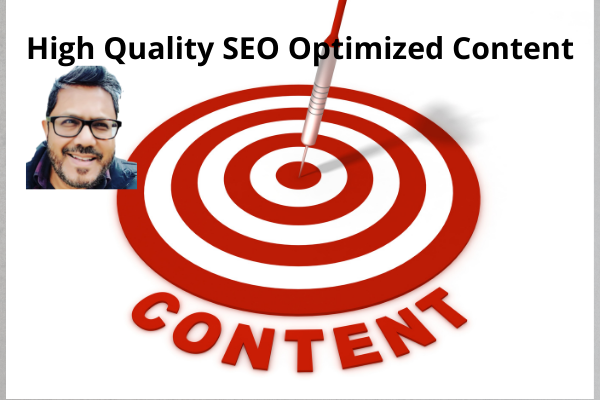 Write Quality SEO Optimized Article Or Content